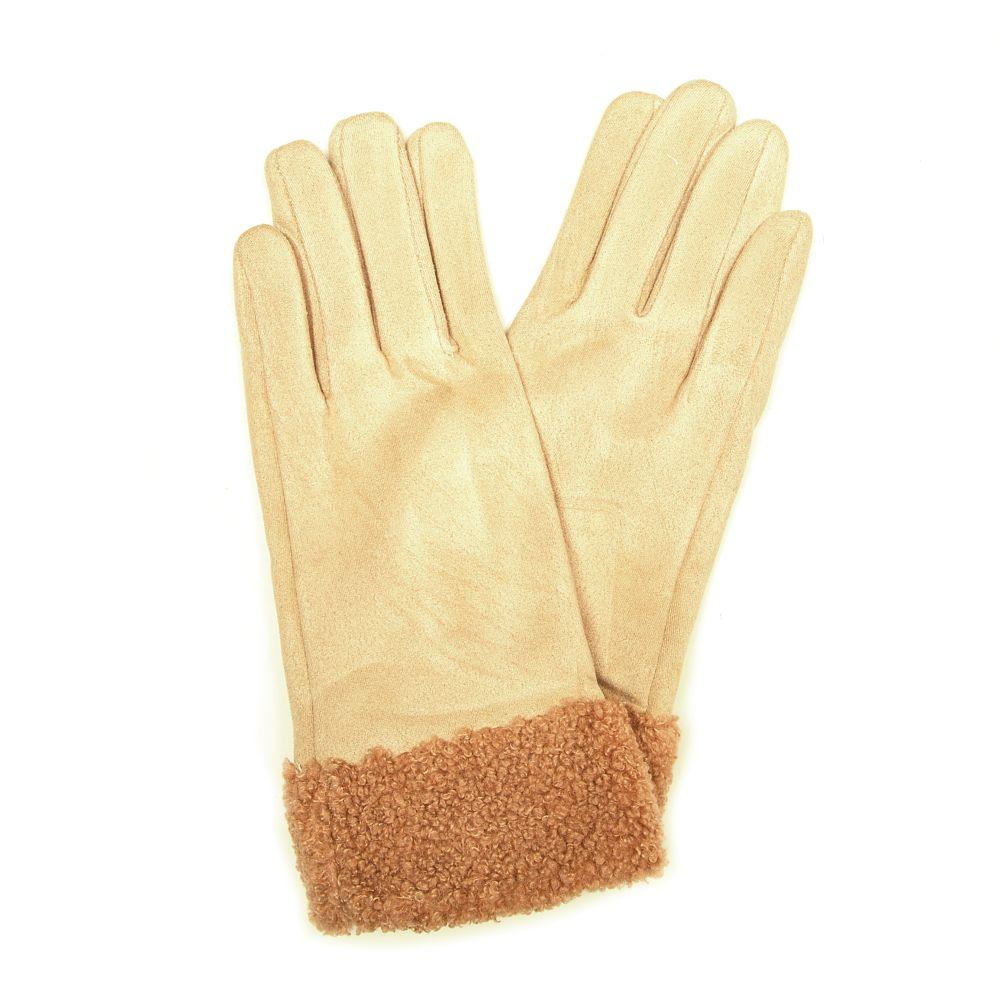 Béžové rukavice