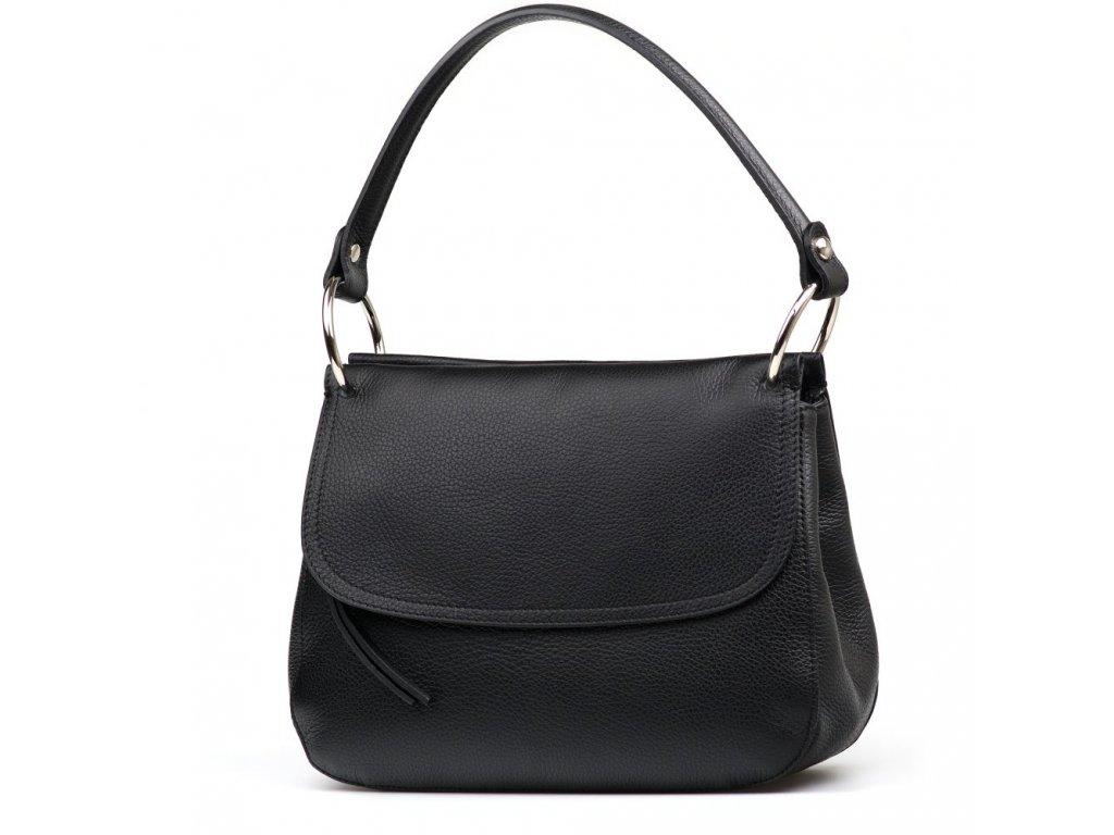 Kožená kabelka Federica černá