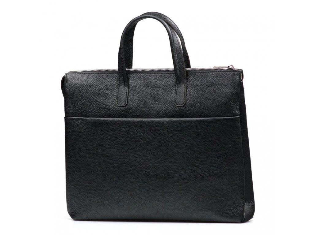 Kožená pracovní taška Nizza černá