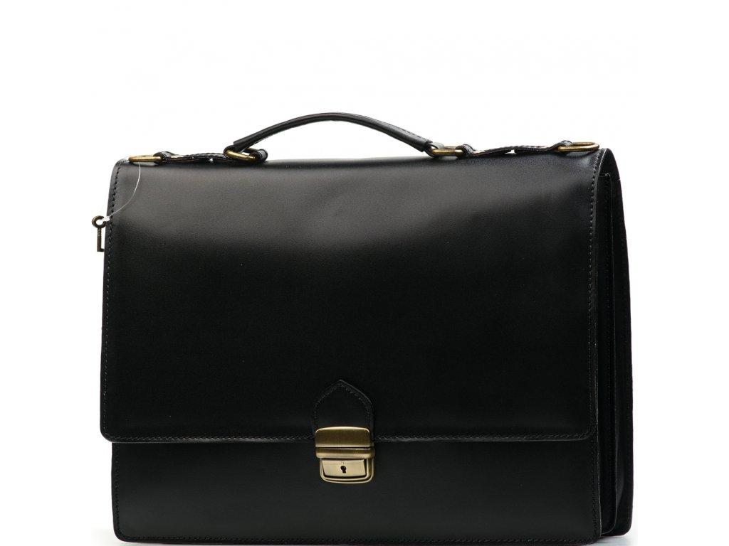 Kožená pracovní taška Noemi černá