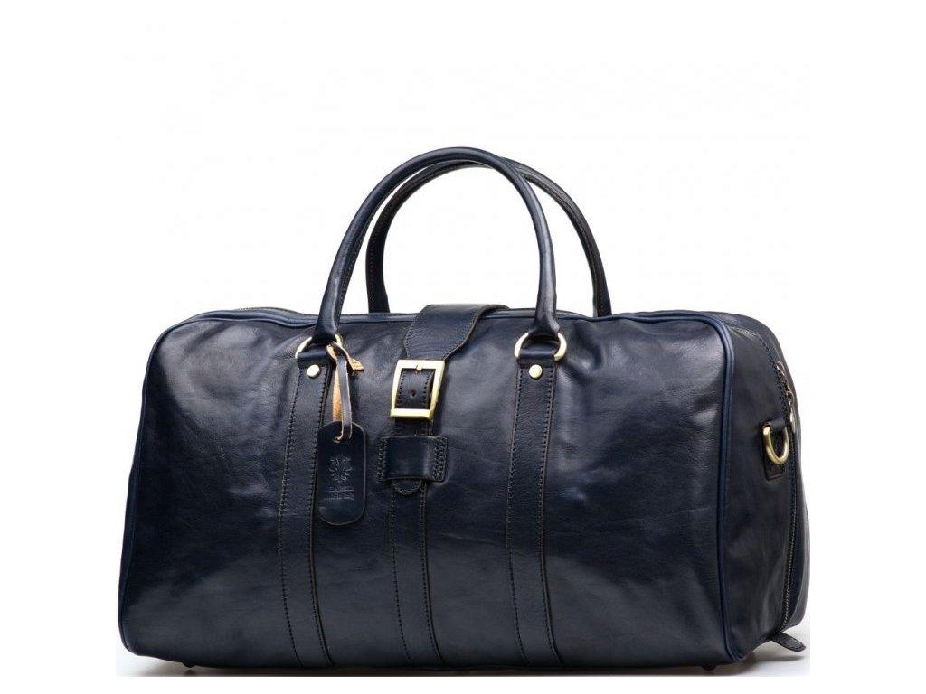 Kožená cestovní taška Modena modrá