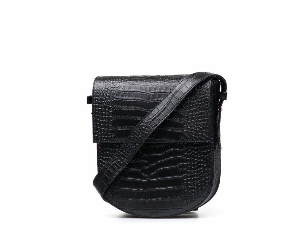 Kožená kabelka Gisa černá