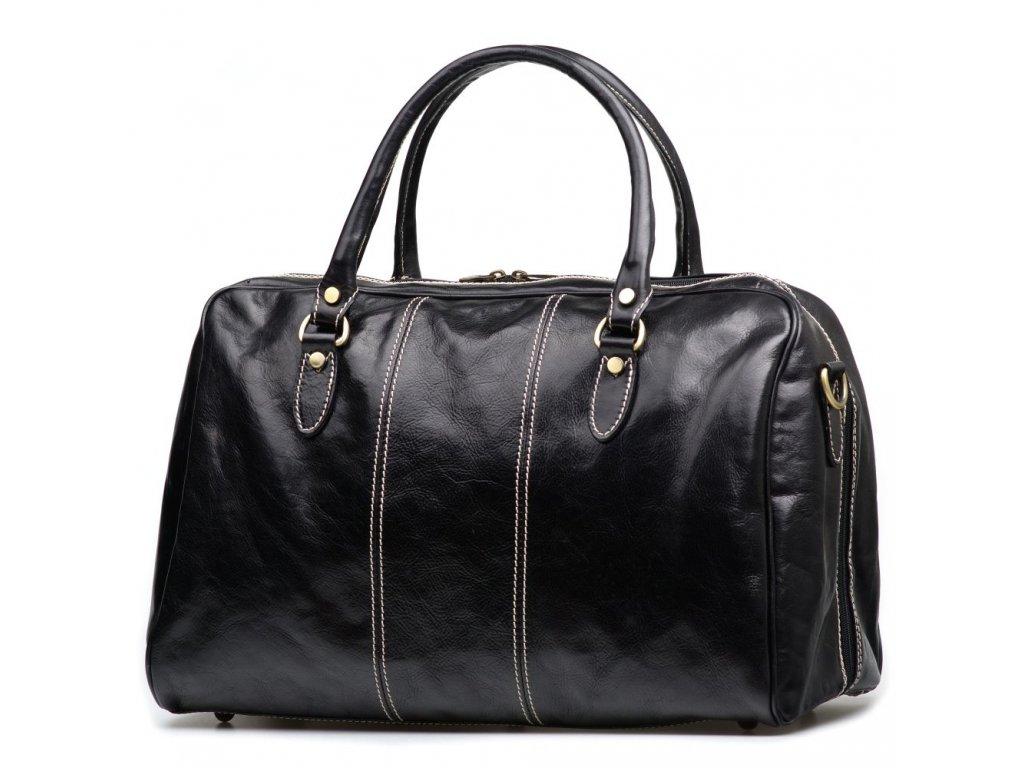 Kožená cestovní taška Ezma černá