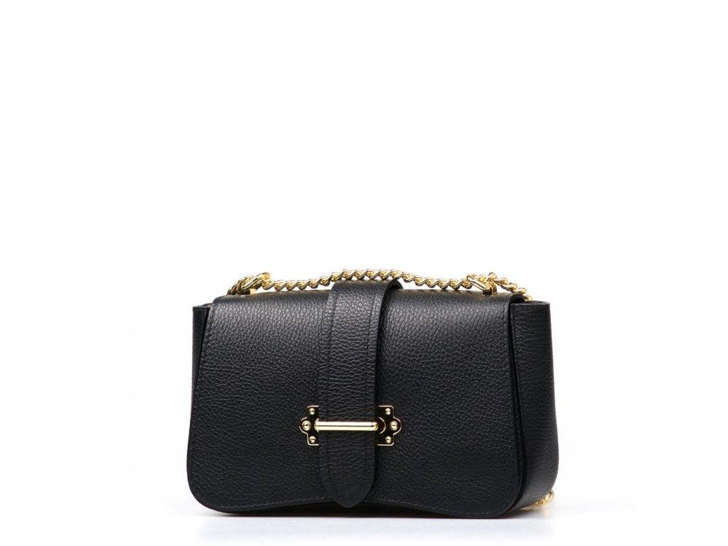 Kožená kabelka Coby černá