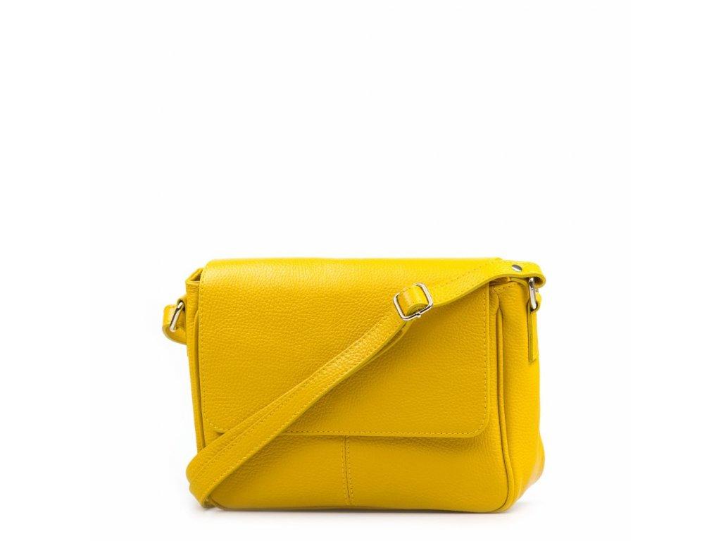 Kožená crossbody kabelka Marion žlutá