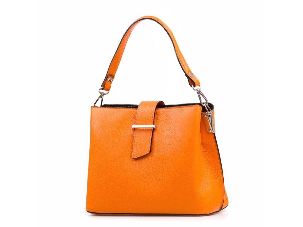 Kožená kabelka Angela oranžová