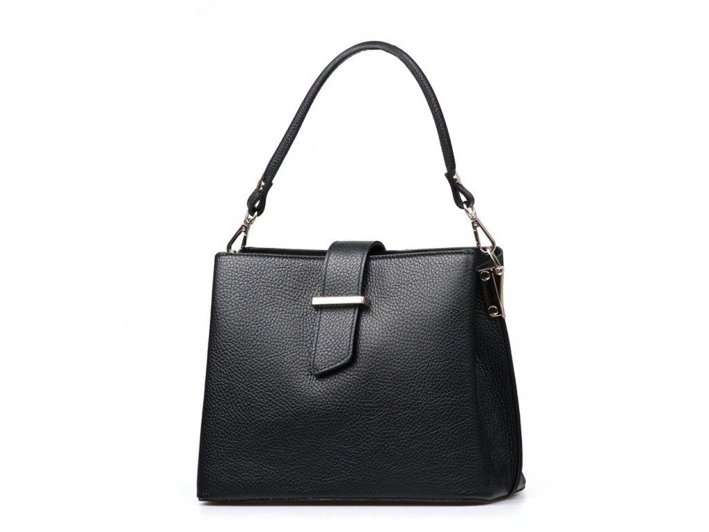 Kožená kabelka Angela černá