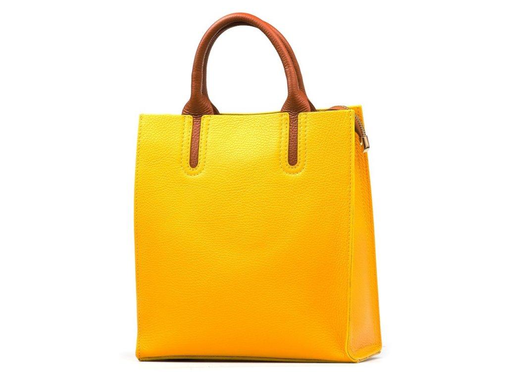 Kožená kabelka Stefania žlutá