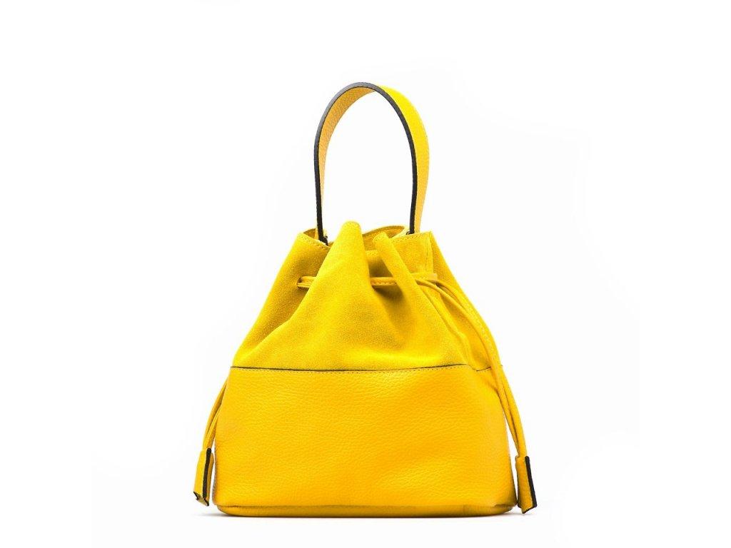 Kožená kabelka Nina žlutá