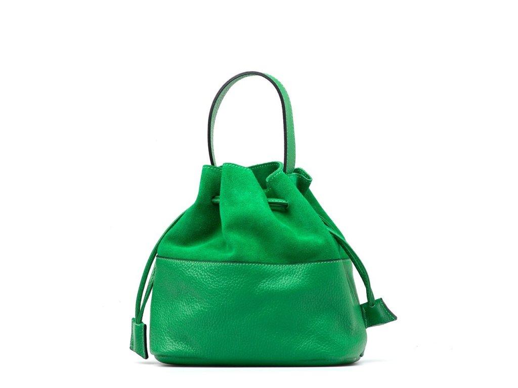Kožená kabelka Nina zelená