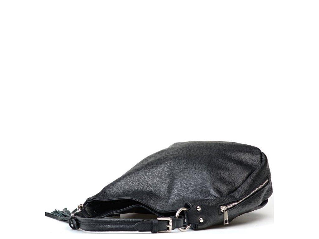 Kožená kabelka Mira černá