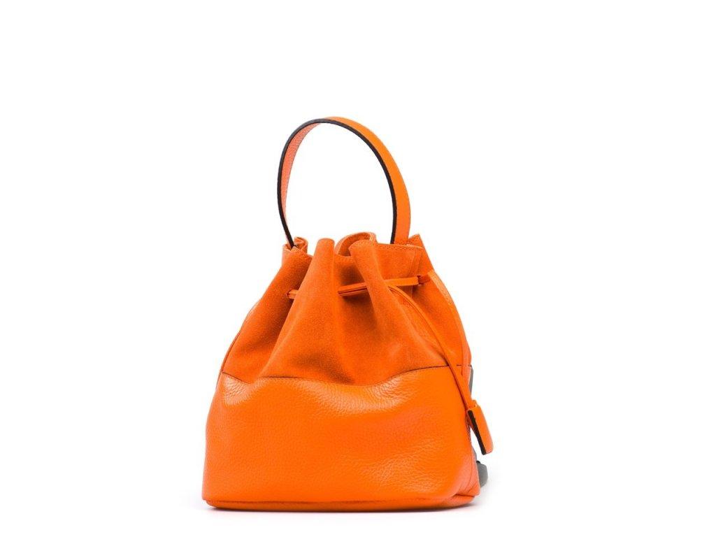 Kožená kabelka Nina oranžová
