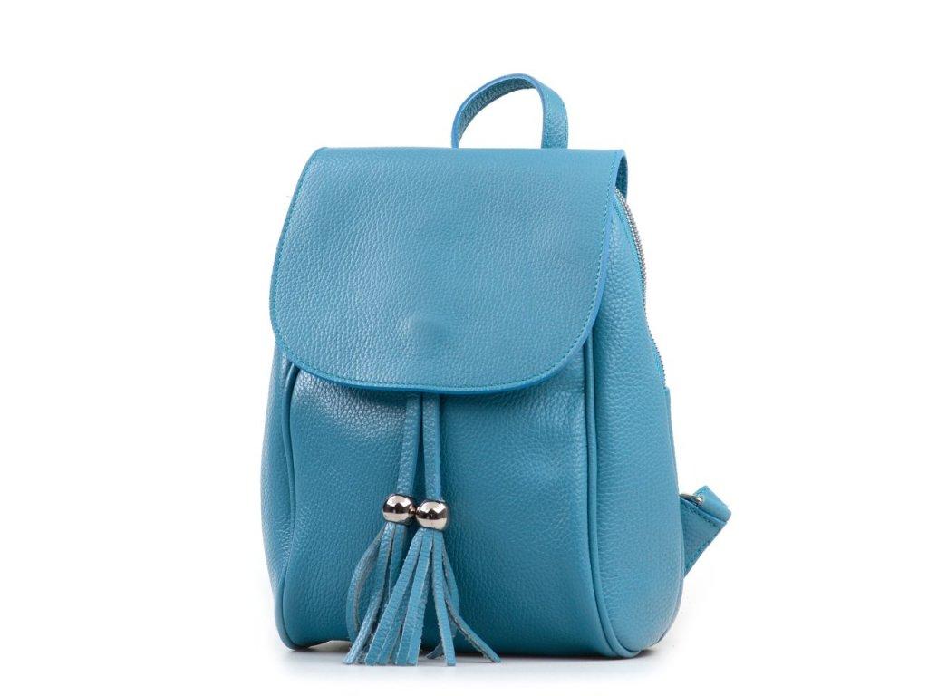 Kožený batůžek Petty modrý