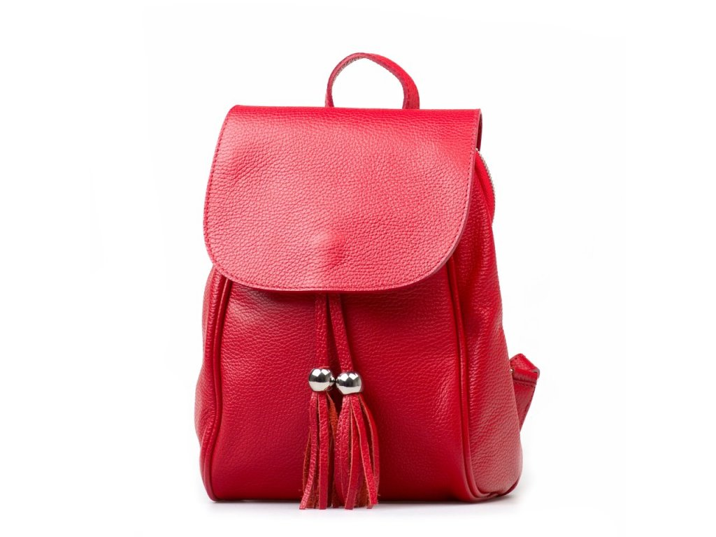 Kožený batůžek Petty červený