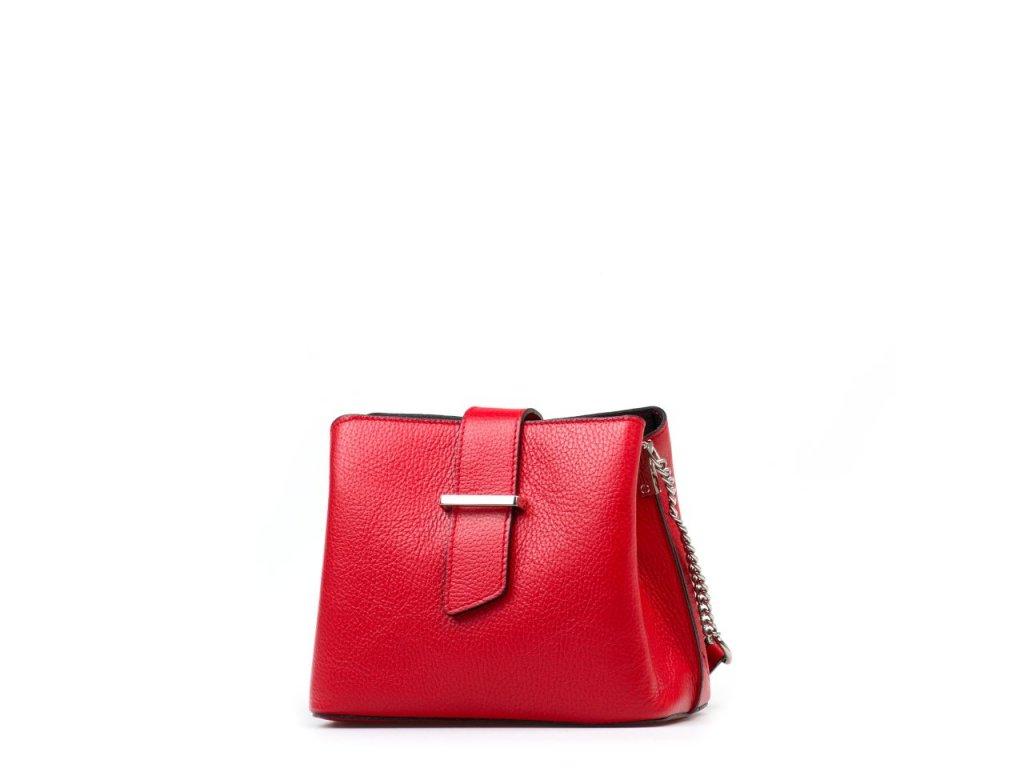 Kožená kabelka Margo červená