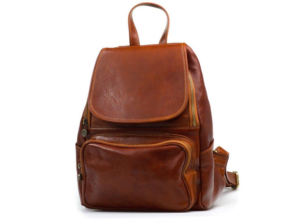 Kožený batůžek Zeffy hnědý