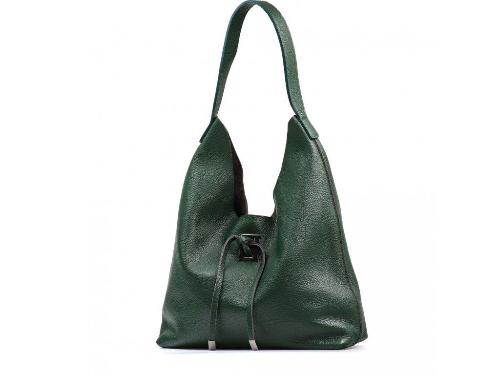 Kožená kabelka Livia zelená