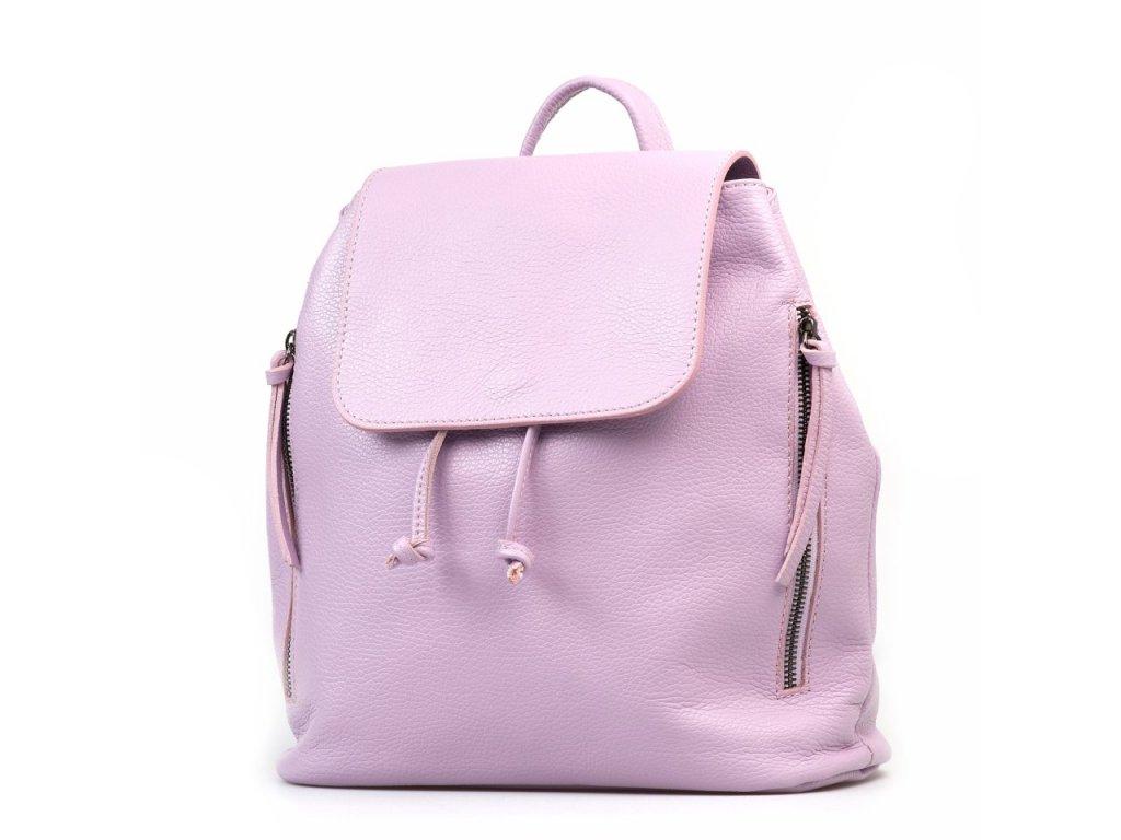 Kožený batůžek Tami lila