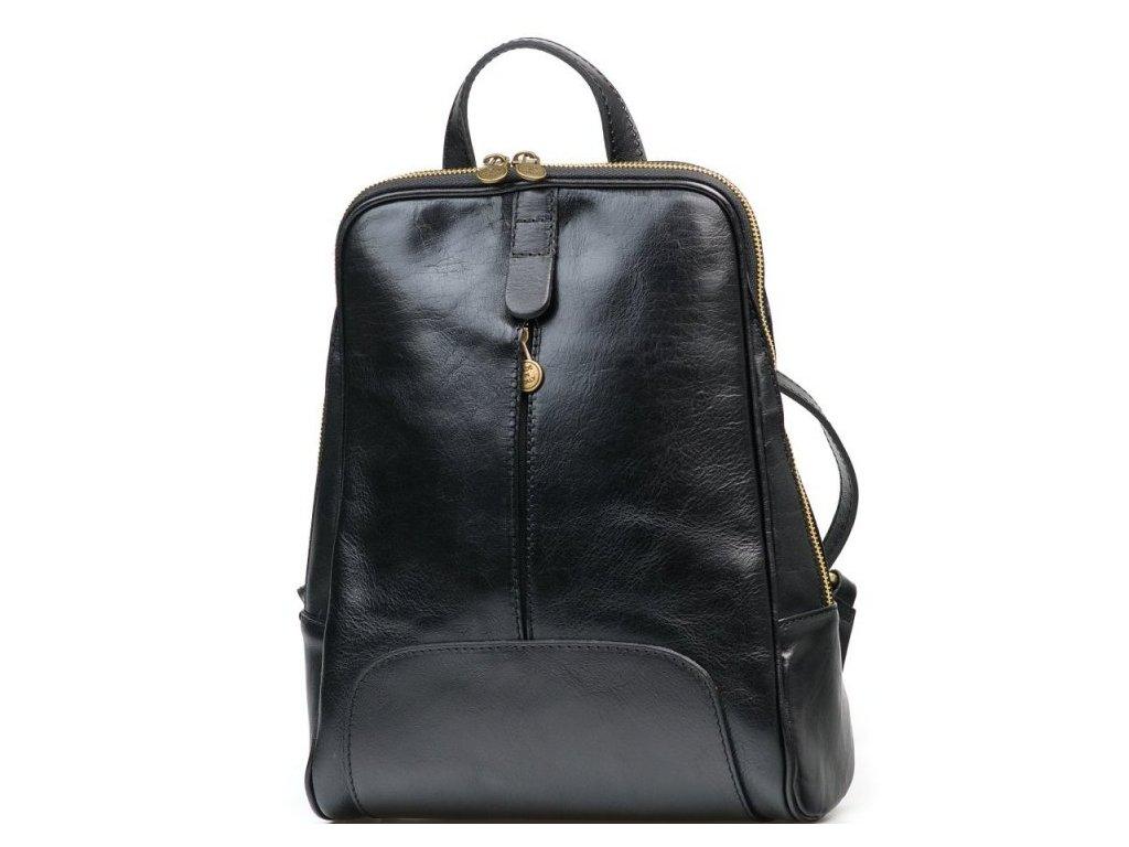 Kožený batůžek Ambra černý