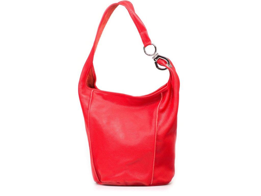 Kožená kabelka Alona červená