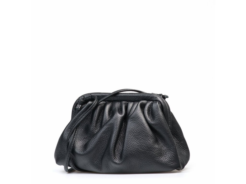 Kožená kabelka Selma černá