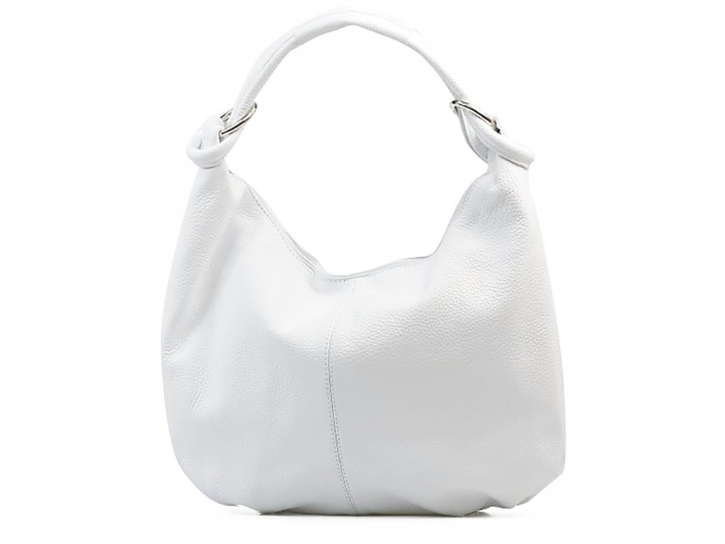 Kožená kabelka Rada bílá