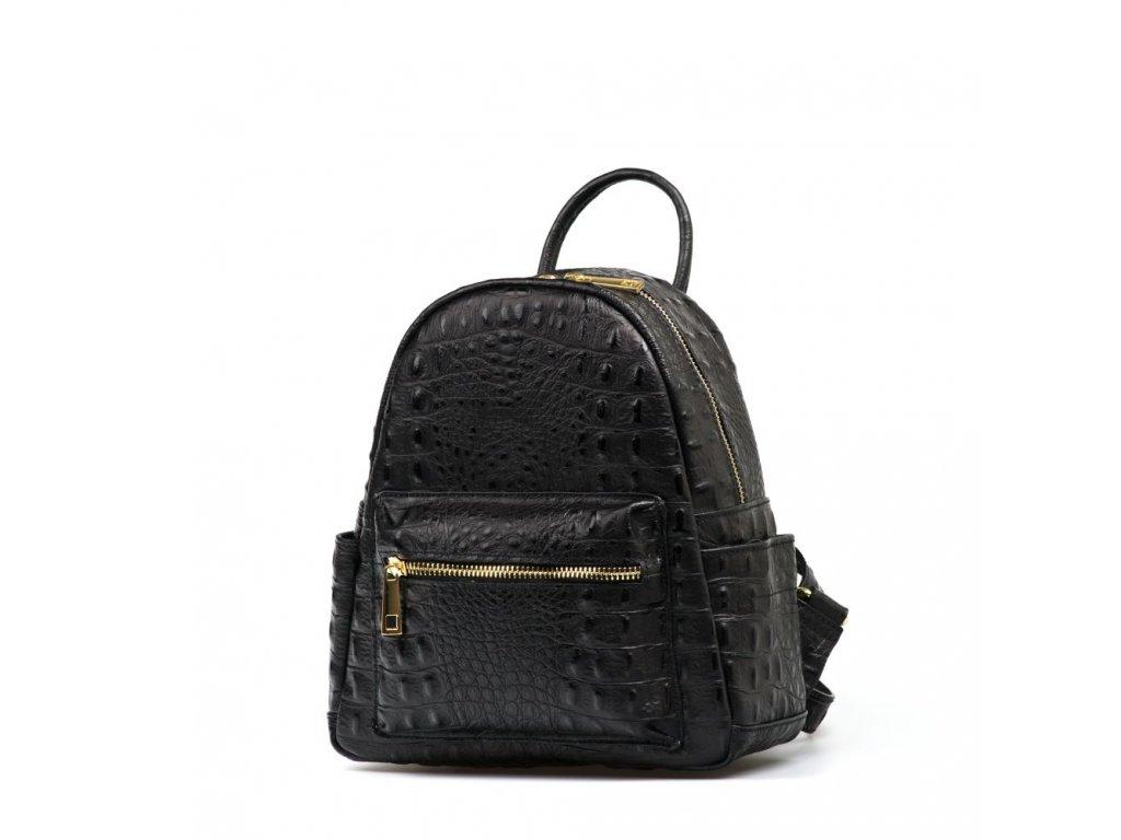 Kožený batůžek Zanvia černý