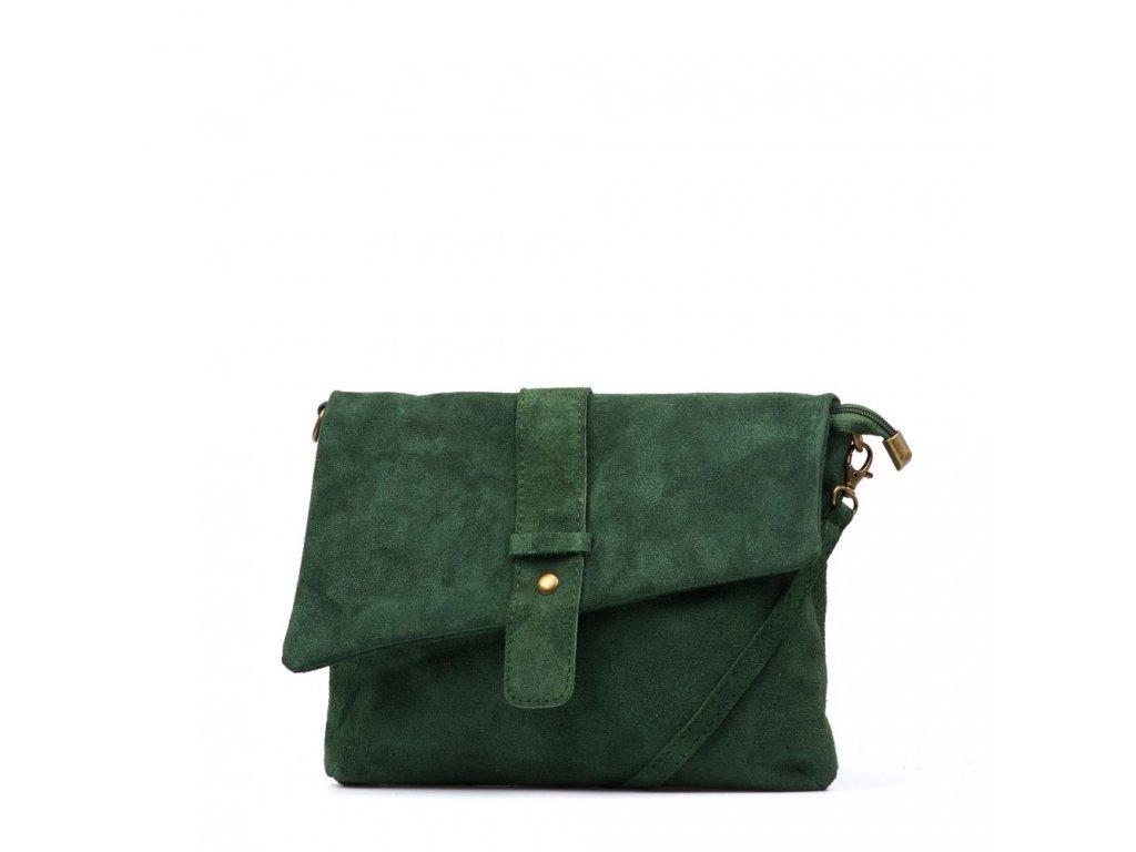 Kožená kabelka Eden zelená