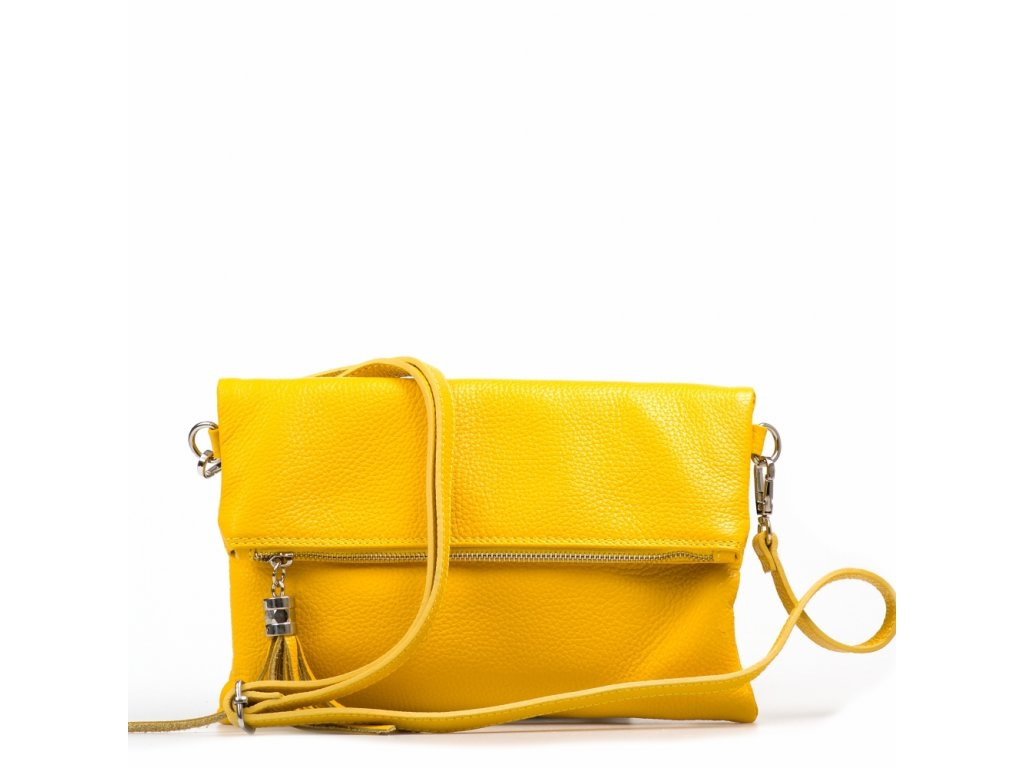 Kožená crossbody kabelka Maura žlutá