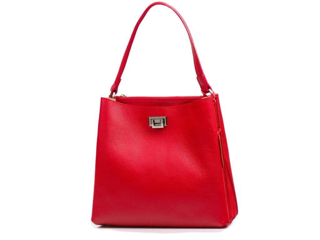 Kožená kabelka Nada červená