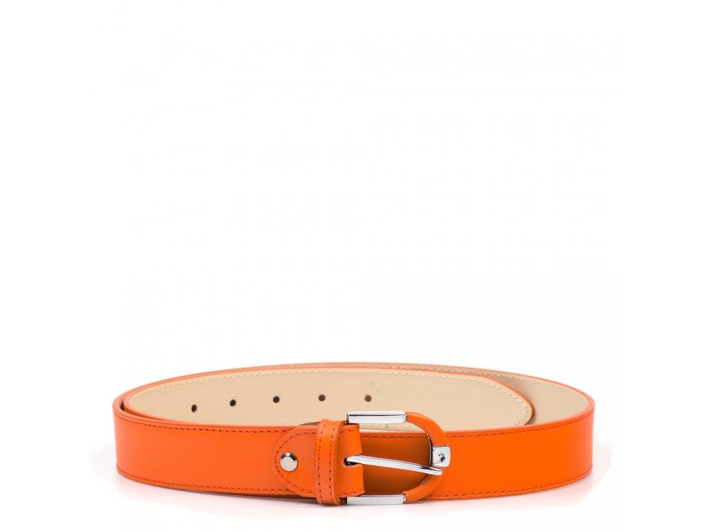Dámský kožený opasek oranžový