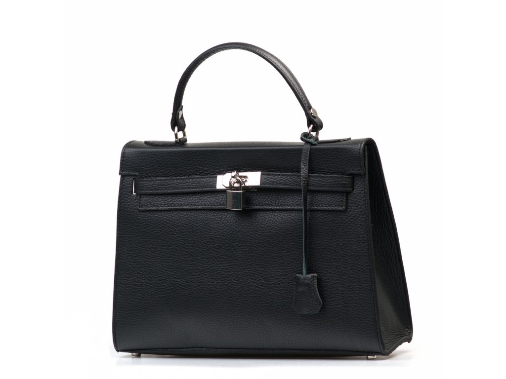 Kožená kabelka Scarletta černá