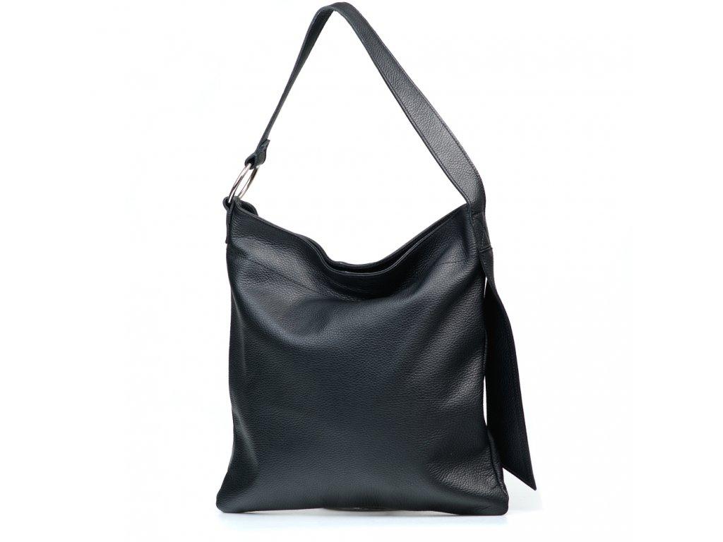 Kožená kabelka Carlotte černá