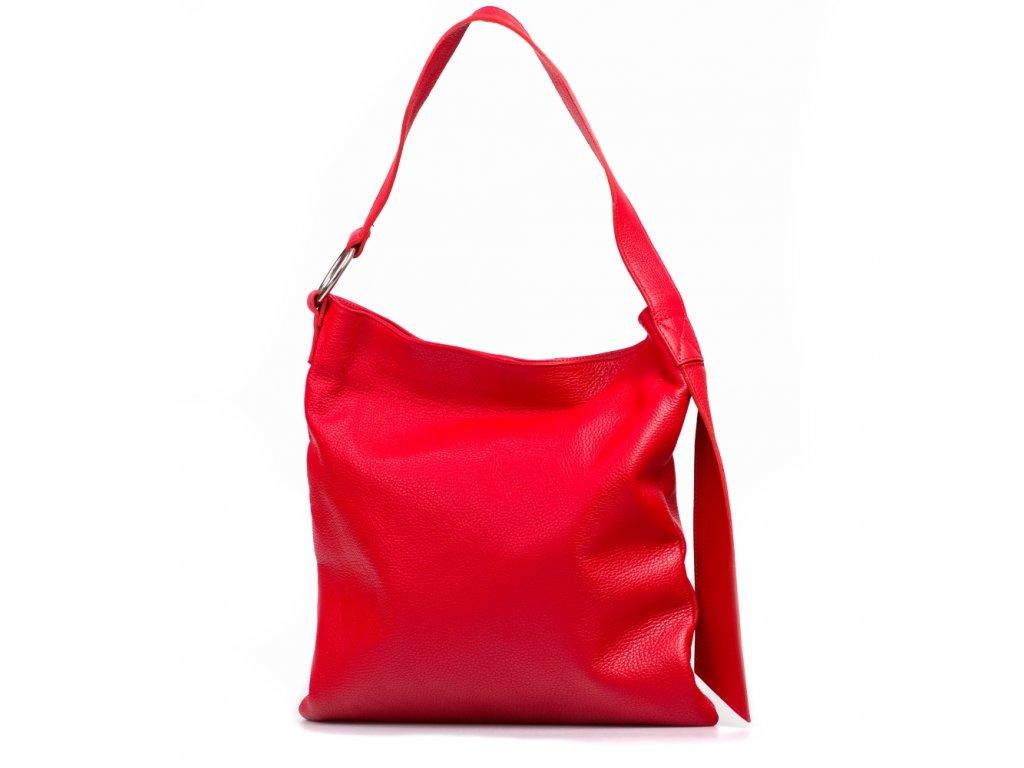 Kožená kabelka Carlotte červená