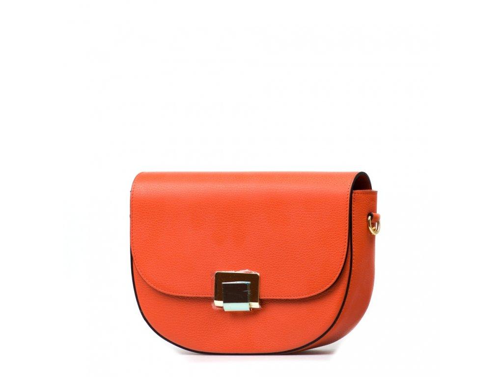Kožená kabelka Sally oranžová