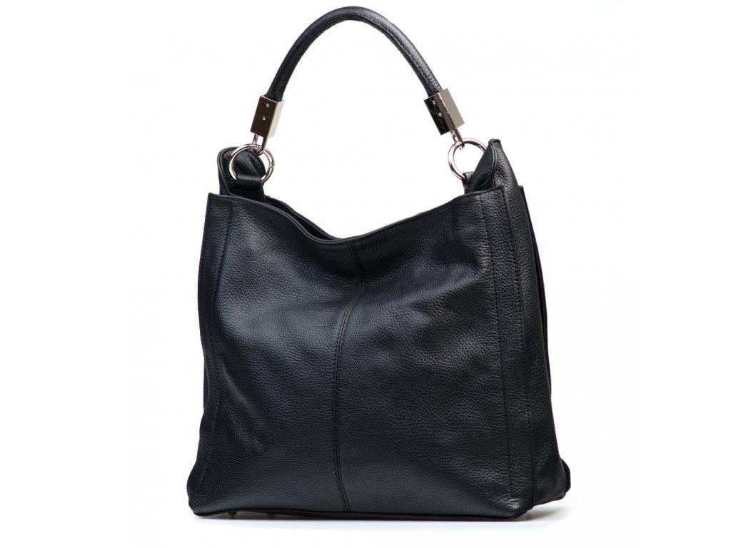 Kožená kabelka Rufa černá