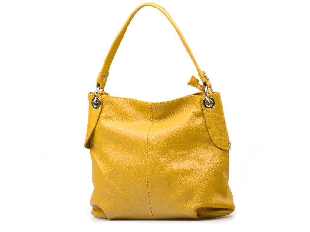 Kožená kabelka Ruby hořčicově žlutá