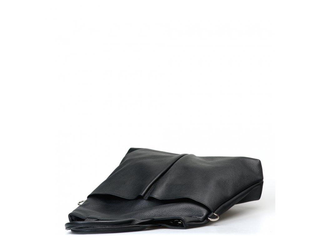 Kožená kabelka Brunella černá