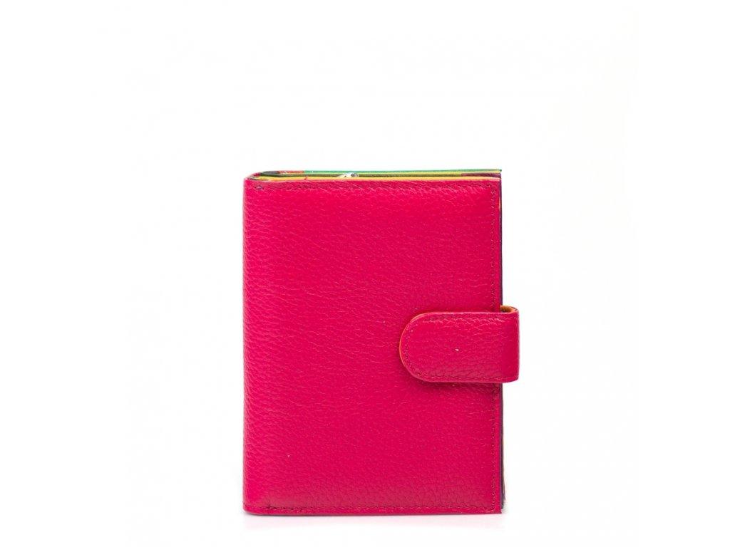 Dámská kožená peněženka Taisa fuchsiová