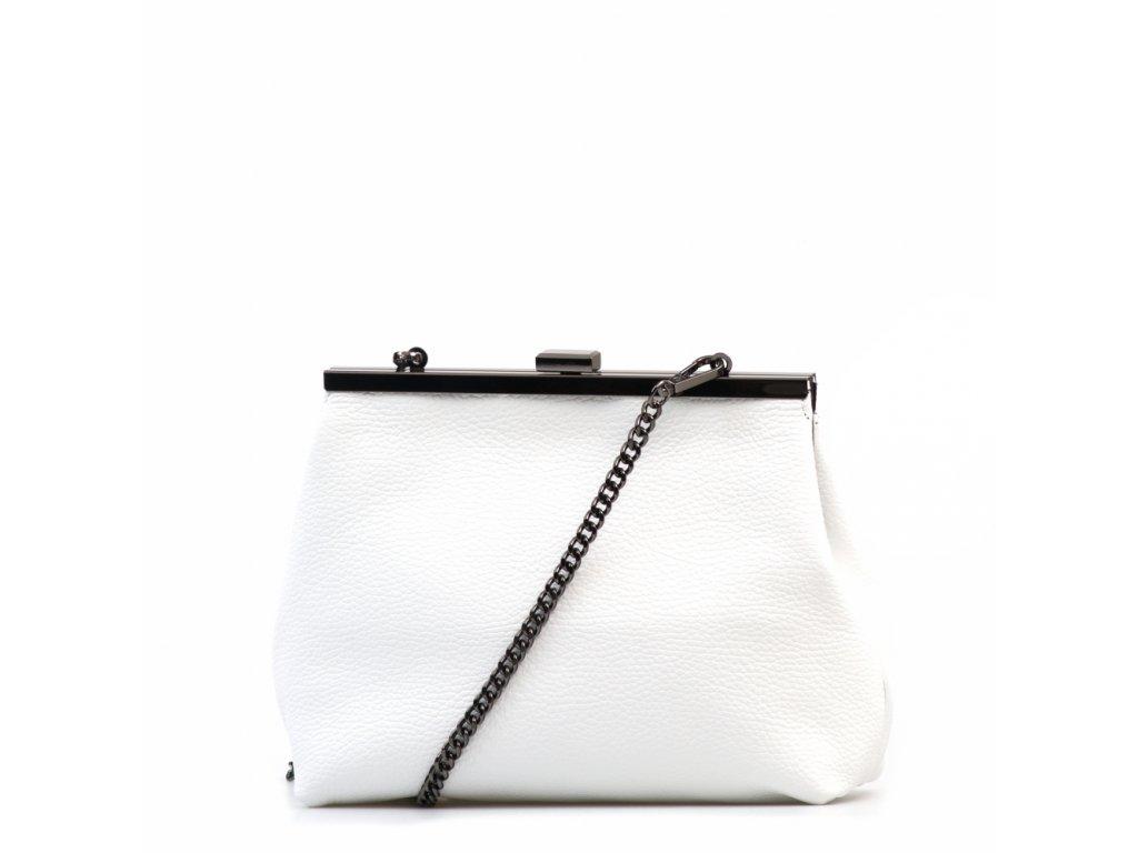 Kožená kabelka Judith bílá