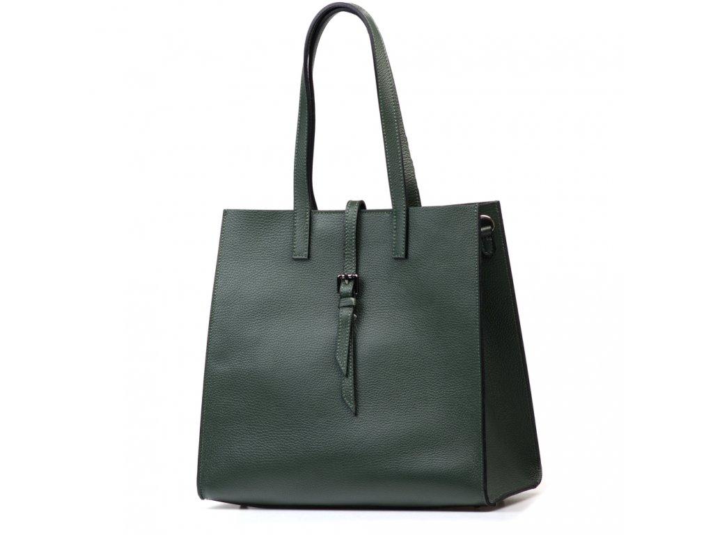 Kožená kabelka Olivia zelená