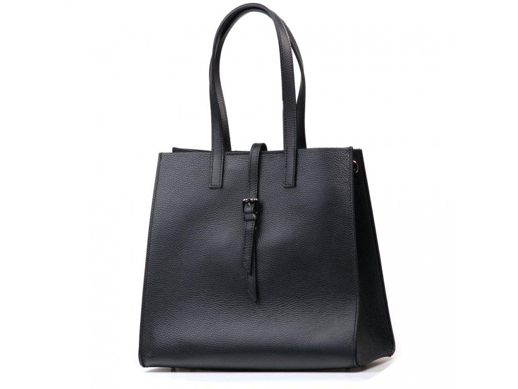 Kožená kabelka Olivia černá