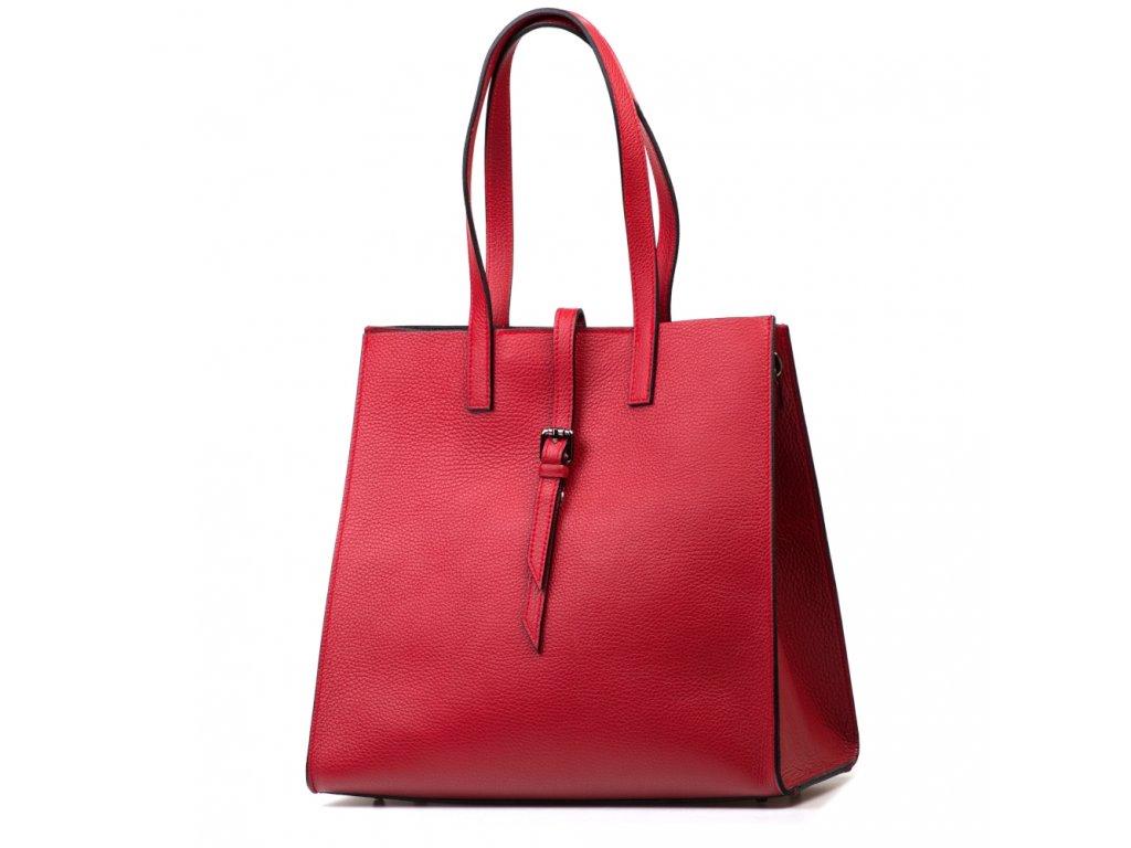 Kožená kabelka Olivia vínově červená