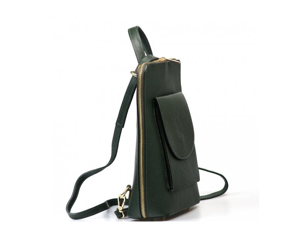 Kožený batůžek Lotta zelený