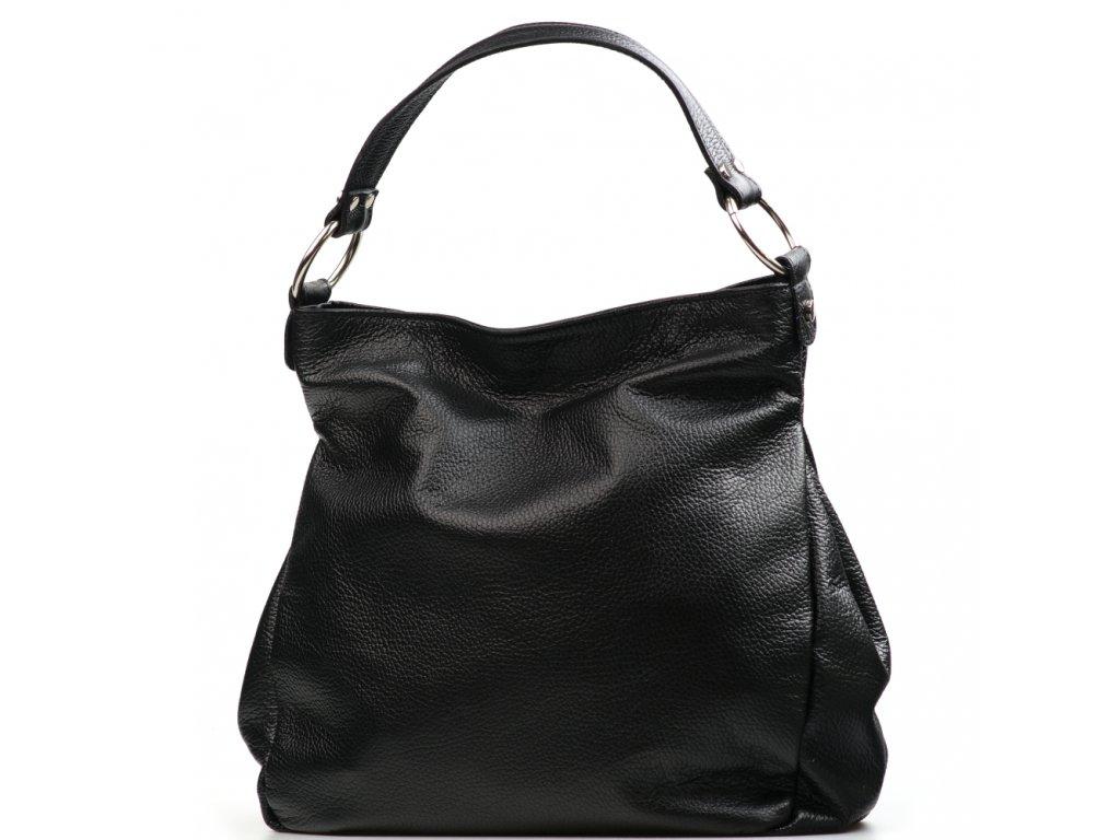 Kožená kabelka Antonella černá