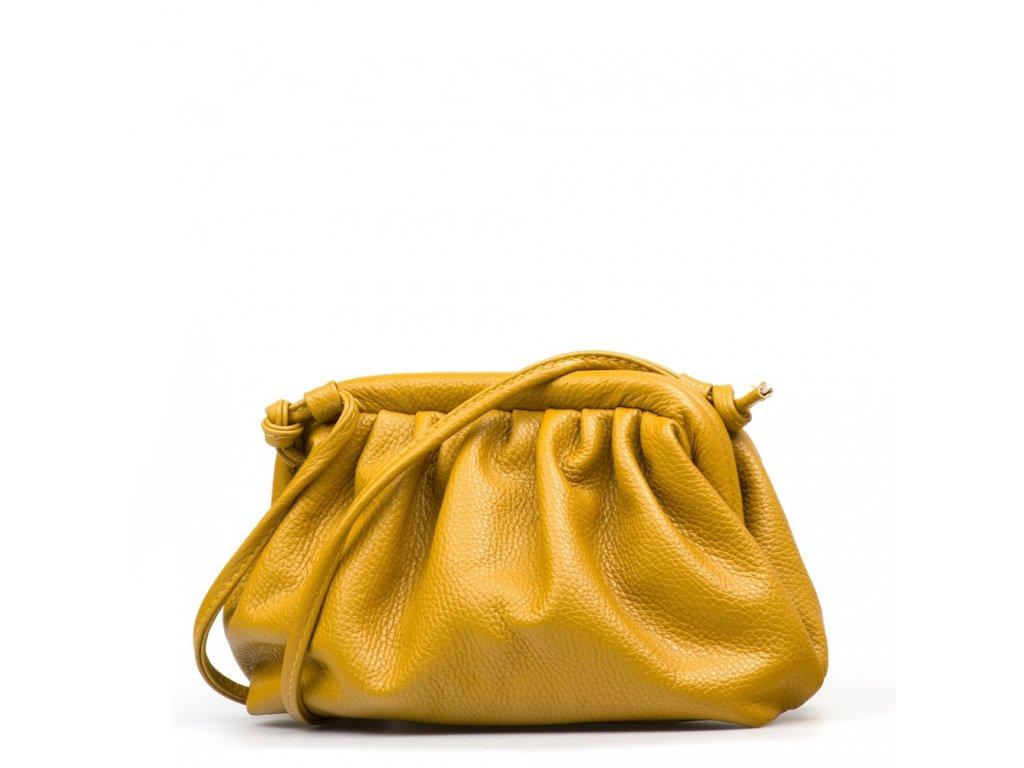 Kožená kabelka Selma hořčicově žlutá