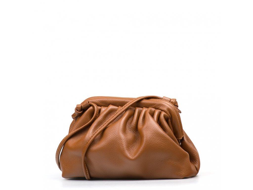 Kožená kabelka Selma koňakově hnědá