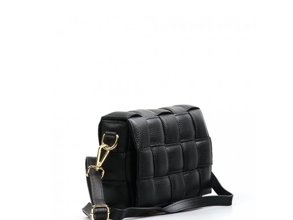 Kožená crossbody kabelka Samar černá