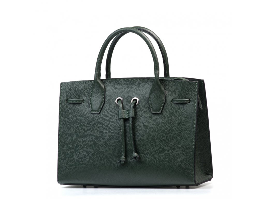 Kožená kabelka Reneta zelená