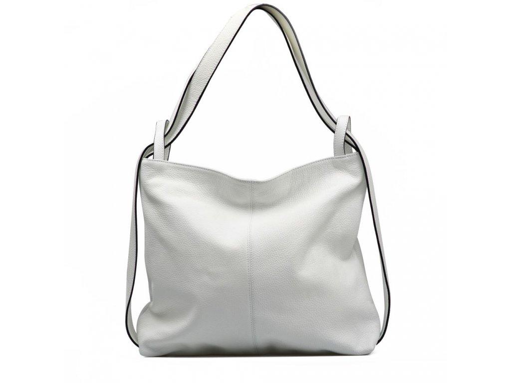 c16b0a71d83 Kožená kabelka - batůžek Giada bílá - Blaire shop